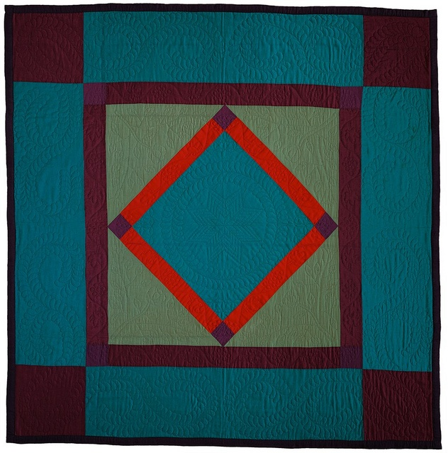 Diamond in a Square, Lancaster County, PA, c. 1925. Lancaster Quilt & Textile Museum (Pennsylvania)