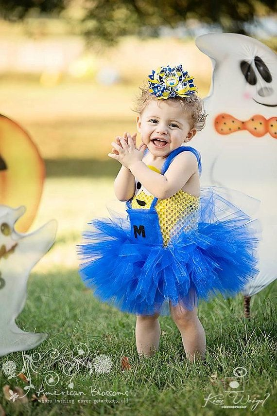 Minion Costume Tutu Dress Baby Girls Toddler Halloween Costume Despicable Me Minion tutu dress by American  sc 1 st  Pinterest & 26 best Haloweeeeen 2014 images on Pinterest | Fall halloween ...