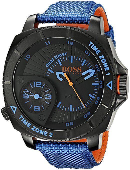BOSS Orange Hombre 1513209 Sao Paulo analógico pantalla Cuarzo Azul Reloj