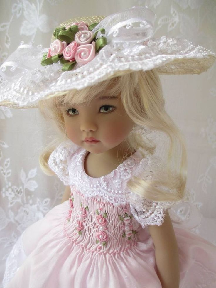 "Little Darling Dianna Effner Doll Outfit Smocked 13"" Decidedly Romantic"