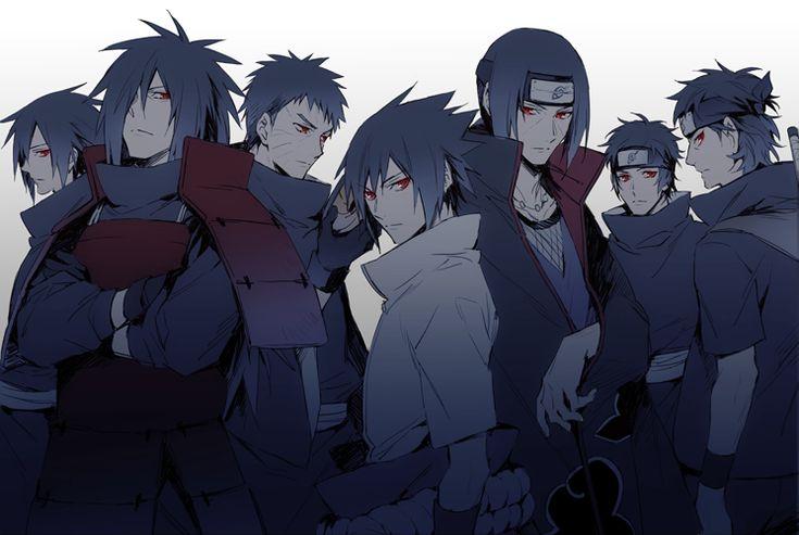 Uchiha-Clan - Izuna, Madara, Obito, Sasuke, Itachi, Kagami & Shisui