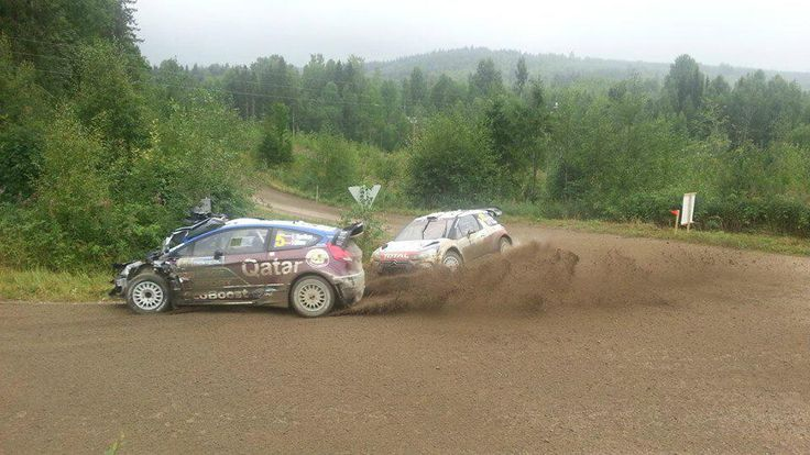 WRC: Evgeny Novikov Took some damage in SS8 of @rallyfinland, and got in the way of Meeke #WRC (Pics) - ktuluz .com