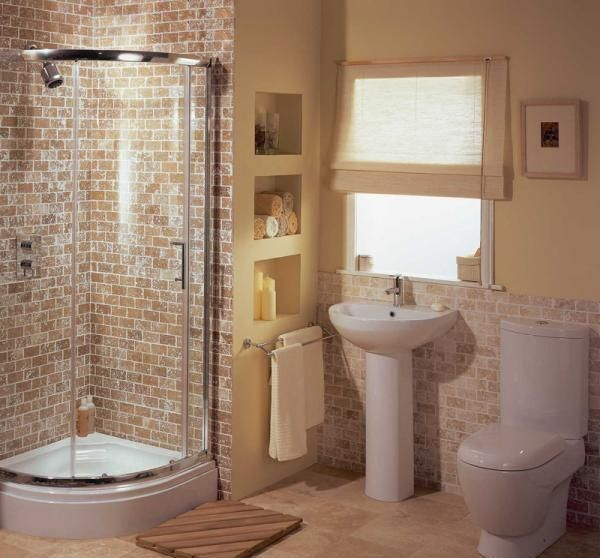 space saving ideas for bathroom remodelling-- perhaps the sink can move beside the toilet and we can have a curved shower like this?