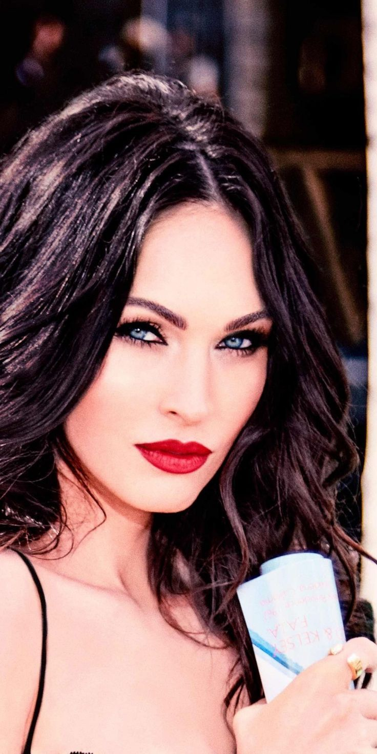 dreaded wallpaper Megan Fox, red lips, actress, pretty ...