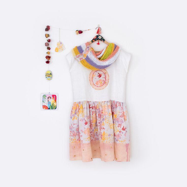 Japonečka / šaty s ptáčkem