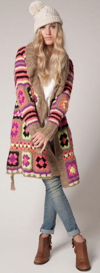 Agostina Bianchi crochet cardigan