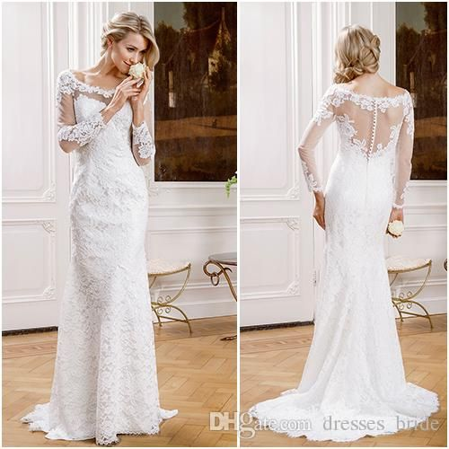 1000+ Ideas About Sheath Wedding Gown On Pinterest