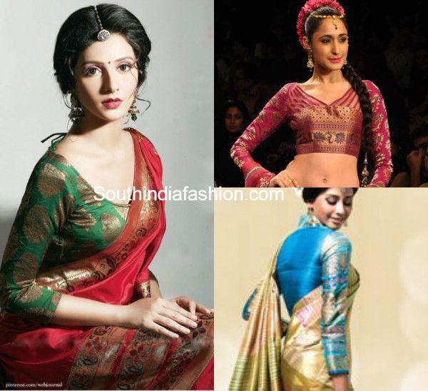Full sleeved blouse designs to add grace & grandeur to Kanjeevarams photo
