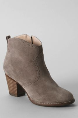 Just purchased these!  Women's Harris Suede Ankle Boots from Lands' End