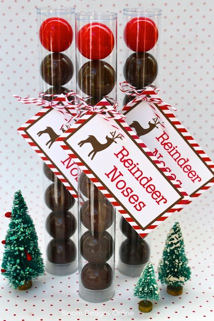 Reindeer noses...cute! These would make great gifts!