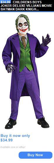 Kids Costumes: Childrens Boys Joker Deluxe Villians Movie Batman Dark Knight Costume - Large BUY IT NOW ONLY: $34.99