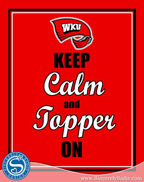 Western Kentucky University Keep Calm and by SincerelySadieDesign, $9.95