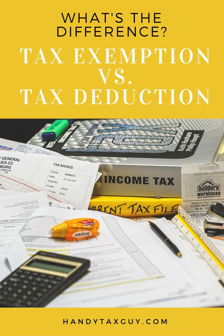 Tax exemption vs deduction.