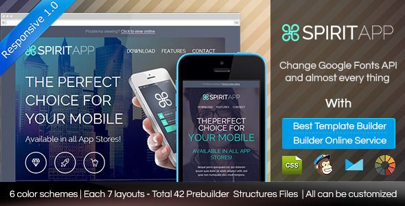 SPIRITAPP - Responsive Email Template With Builder