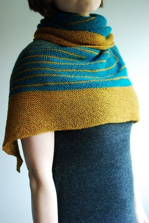 great colors in Hello Knitty's Stripe Study shawl