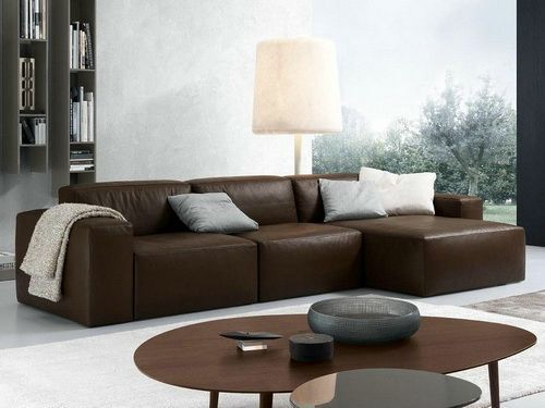 small leather sectional sofa bed