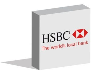 HSBC logo logotype in 3d form on ground - Editorial Use Only - Istanbul, Turkey - July 08, 2016 ~ Work of Stock Editorials by stock404.com