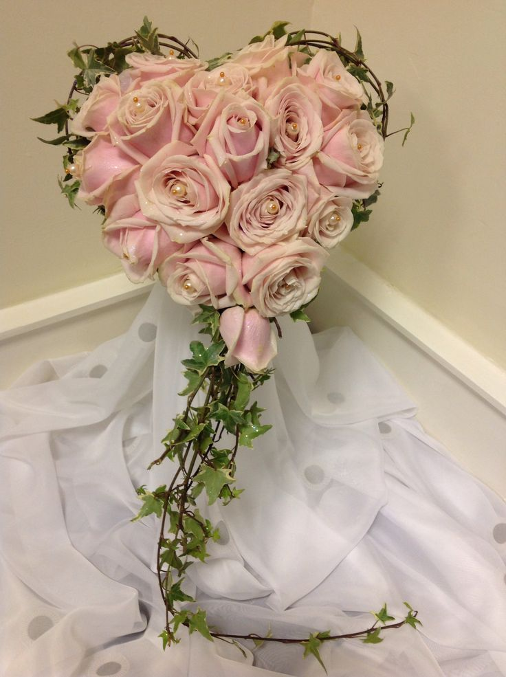 Heart shaped brides bouquet made by Tayler James Flowers