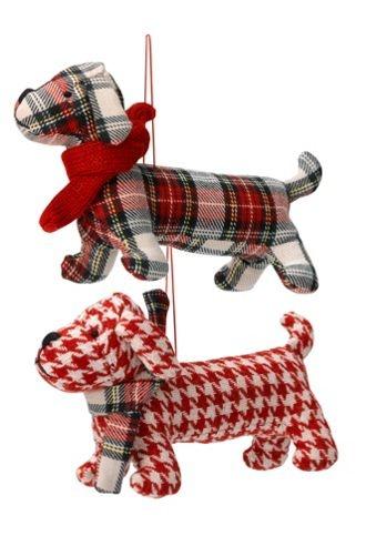 Linea Frosty tartan sausage dog - House of Fraser