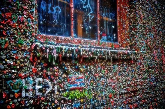 yep, we're doing this. gum wall: seattle, wa (on post alley by pike place market)
