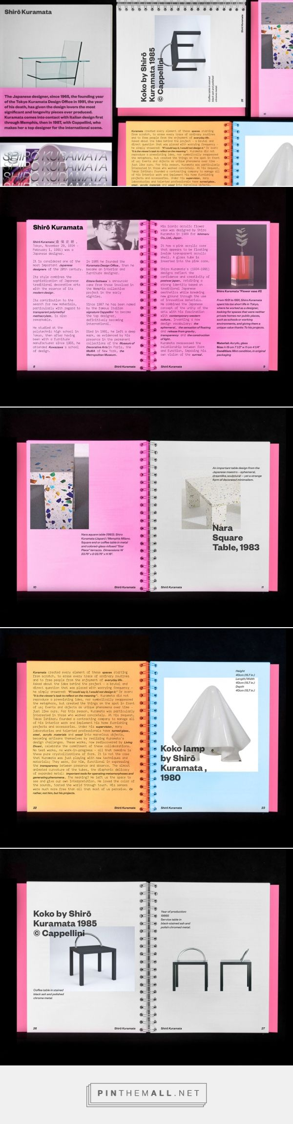 Shirō Kuramata – Editorial on Behance... - a grouped images picture - Pin Them All