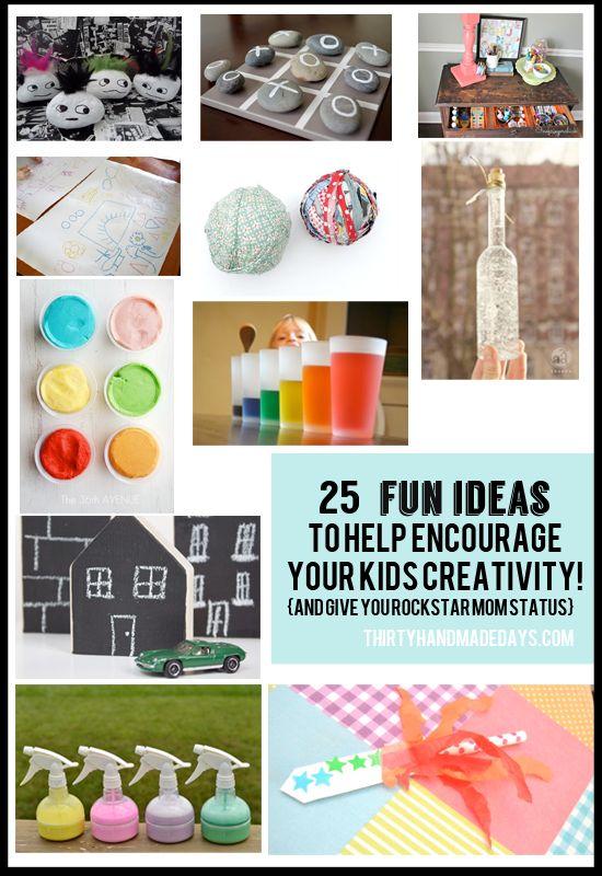 25 Fun Kids Ideas www.thirtyhandmadedays.com