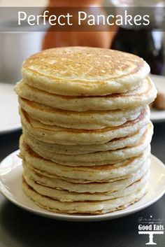 """I know food bloggers have a bad rap for throwing around the phrase """"best ever"""" a little too frequently. Friends. Look at my eyes… these pancakes are the real deal. I've been searching for the best pancake recipe ever, and I've finally perfected it. Thick and fluffy, with a hint of sweetness, but not too...Read More »"""