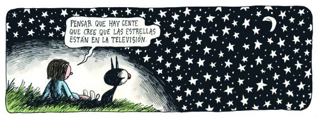 """To think that there are people who believe that the stars are in the television."""