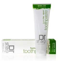 Natural Gumption - Fluoride Free Green Tea Whitening Toothpaste, $13.00 (http://www.naturalgumption.com/fluoride-free-green-tea-whitening-toothpaste/)  Dr Sharps Natural Flouride Free Green Tea Whitening Toothpaste uses a fluoride- and detergent-free formula that contains no synthetic colors, flavors, or alcohol. Natural tea tree extracts, echinacea, and myrrh contain soothing antioxidant properties to provide antiseptic, bactericidal, and fungicidal benefits.