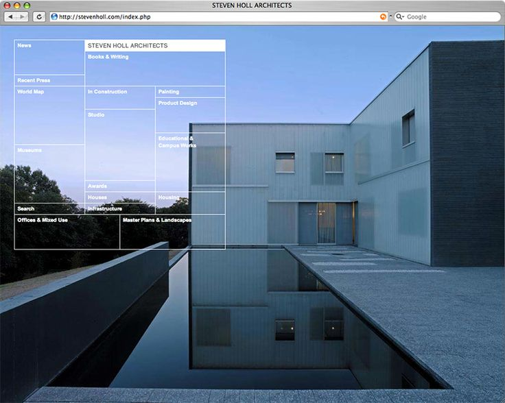 Project Projects, Steven Holl Architects website. Architecture  WebsitesArchitecture ...