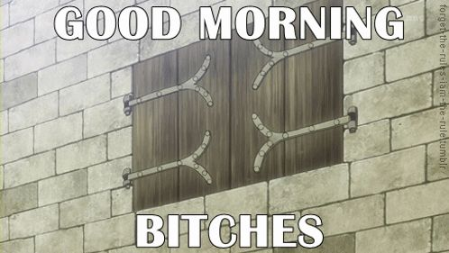 """GOOD MORNING. 