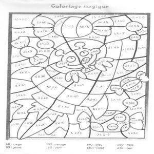 Coloriage Magique Multiplication Ce2 Coloriage Magique Tables De