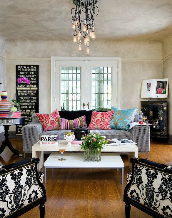 My Style Is Defintely Eclectic, And Iu0027m Drawn To Black And White Like A  Moth To A Flame. Brandon Barre Photography   Eclectic Living Room With  Venetian ... Part 70