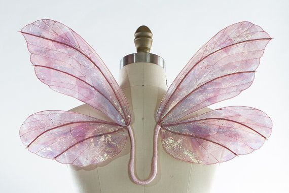 Fairy Wings Light Pink Iridescent by TinkersPennyBoutique on Etsy, $85.00