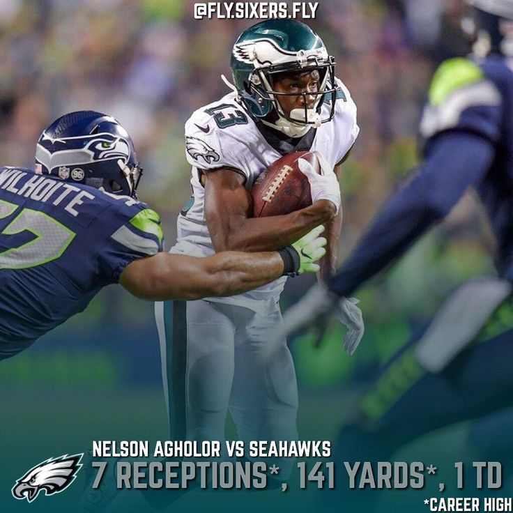 In an Eagles loss WR Nelson Agholor (@nelsonagholor15) was still able to shine picking up Career Highs in Receptions and Receiving Yards in a Game. In his last match against the Seattle Seahawks Agholor had 0 Catches on 3 Targets and dropped a crucial pass. Look at his Stats a year later.  Oh how times have changed!  #Eagles #PhiladelphiaEagles #Philadelphia #FlyEaglesFly #Philly #FlySixersFly