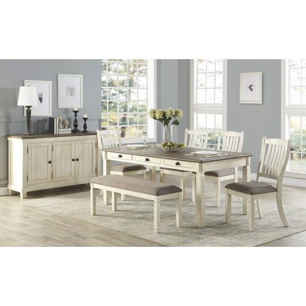 Kaley 6 Piece Dining Set Traditional Dining Room Sets Interior Design Dining Room White Dining Room Furniture