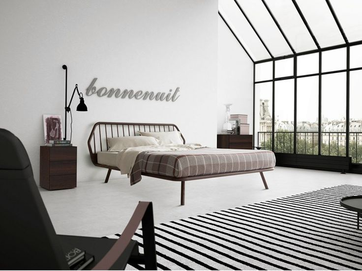 Download the catalogue and request prices of Trama | wooden bed by Pianca, solid wood double bed, Letti collection