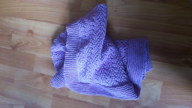 Ravelry: lemonemu's Lovely Lilac Baby Blanket