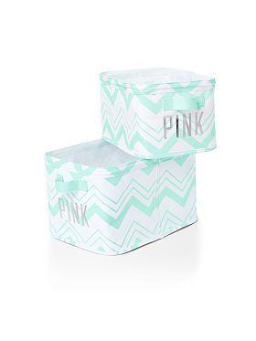 Storage Bins - PINK - Victoria's Secret from VS PINK