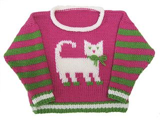 Cat Pullover pattern by Gail Pfeifle, Roo Designs