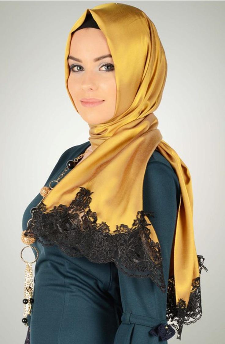 Kehribar rengi tafta şal, dantelli şal, karacabutik, www.karacabutik.com, lace shawl, güpür şal, 2013 şal modası, 2013 tesettür modası