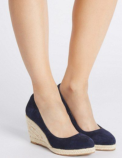 Leather Wedge Heel Almond Toe Espadrilles | Marks & Spencer London