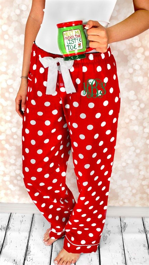 Monogrammed Christmas Pajama Pants-Youth and Adult!