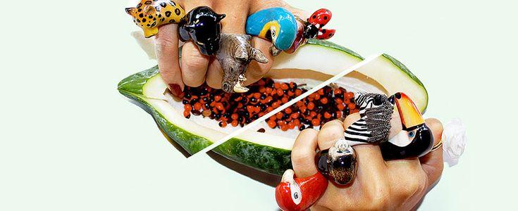 Nach Bijoux in ceramica fatti a mano a forma di animali