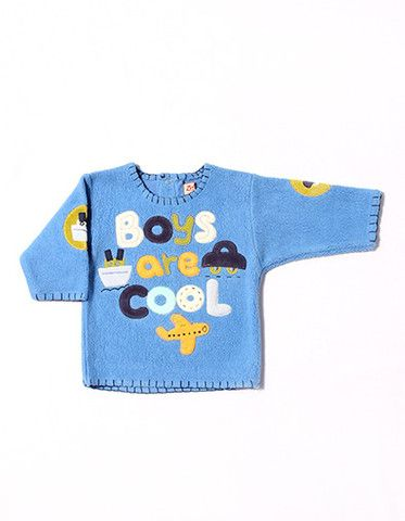 """Boys are cool"" blue fleece pull over."