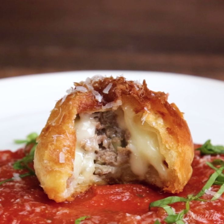 Wrapped in cheese and puff pastry, these meatballs are crispy, bite-sized deliciousness.
