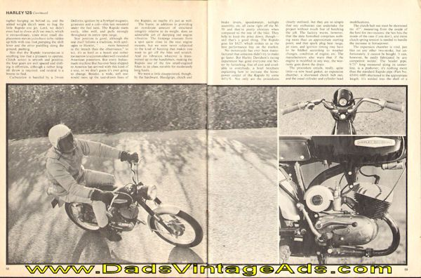 1968 Harley-Davidson 125cc Rapido Road Test