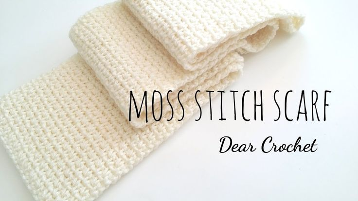 코바늘 목도리 (crochet moss stitch scarf) - YouTube