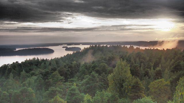 Pyhäjärvi from Pyynikki Tower, Tampere, Finland. #tampereblog #tampereallbright