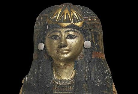 Late 18th Dynasty Thebes (1250 BC to you and me).  It preserves the body of 'The Chantress of Amun', a well-regarded singer who performed at temple rituals.